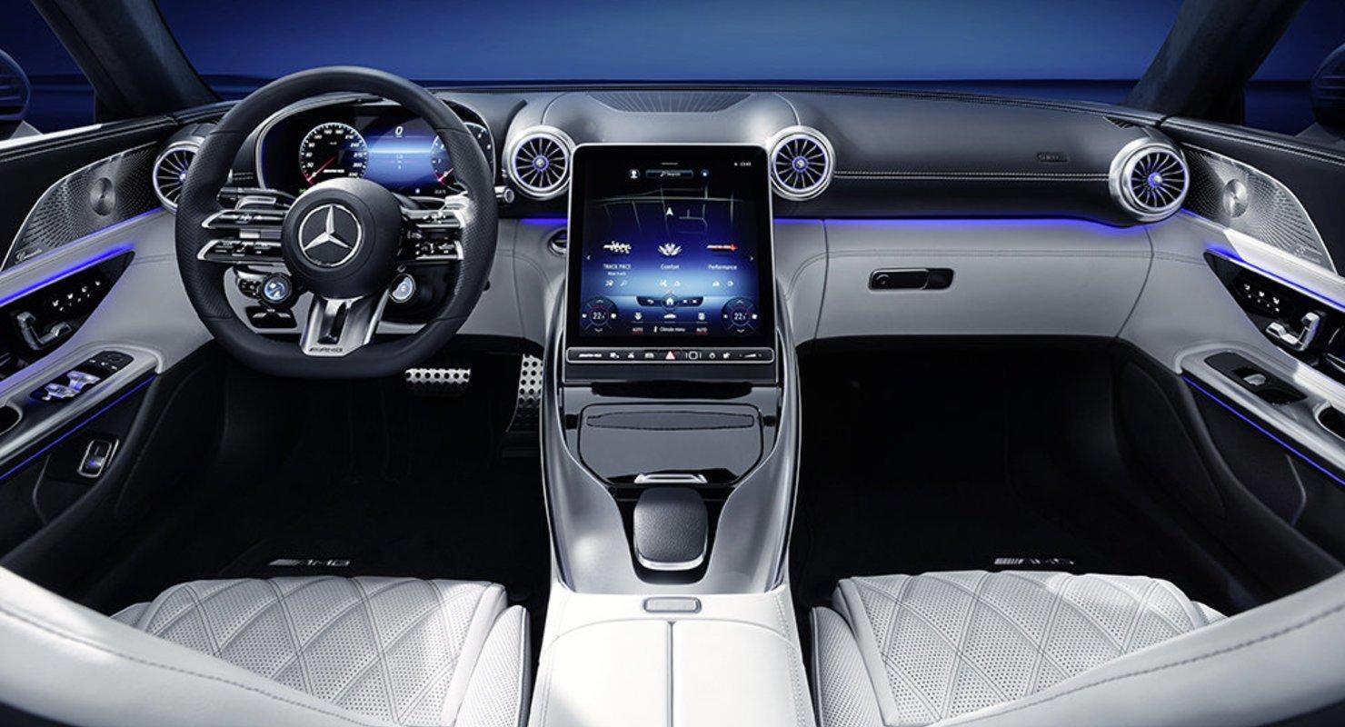 В сети опубликованы фото салона нового Mercedes SL Автомобили