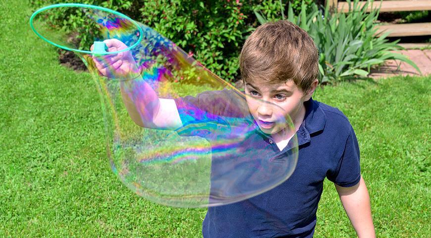 Гигантские мыльные пузыри мастер-класс,развлечения