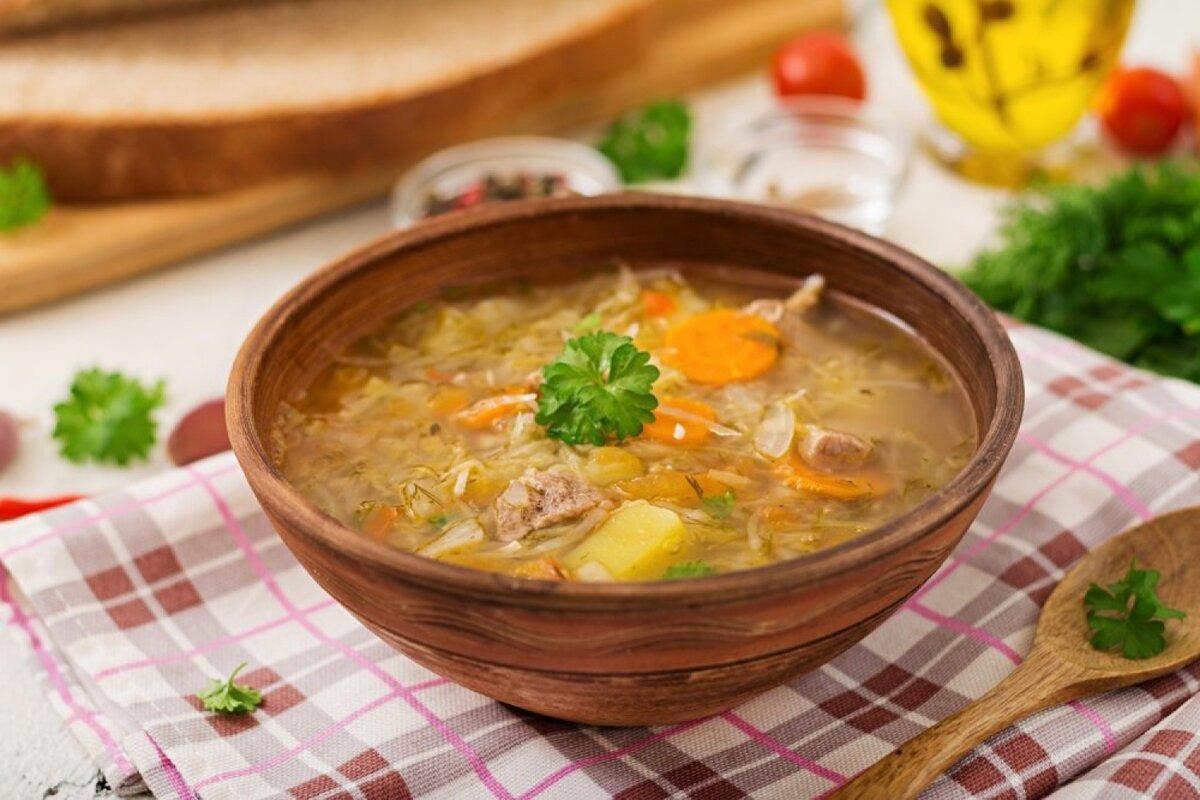 Сытный мясной суп башкирской кухни под названием олюш