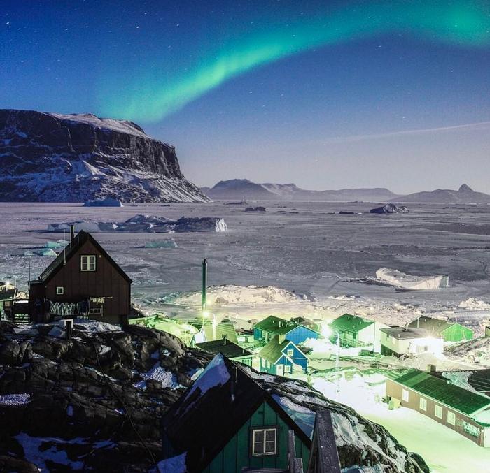 Северное сияние гренландия, подборка, природа, путешествия, север, удивительное