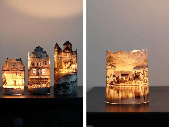 Делаем сами: свеча-замок декор,мастер-класс