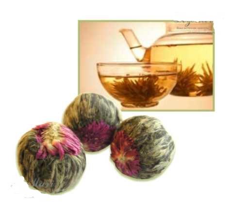 Это не чайный цветок, а цветок чайной Камелии. Не путать.