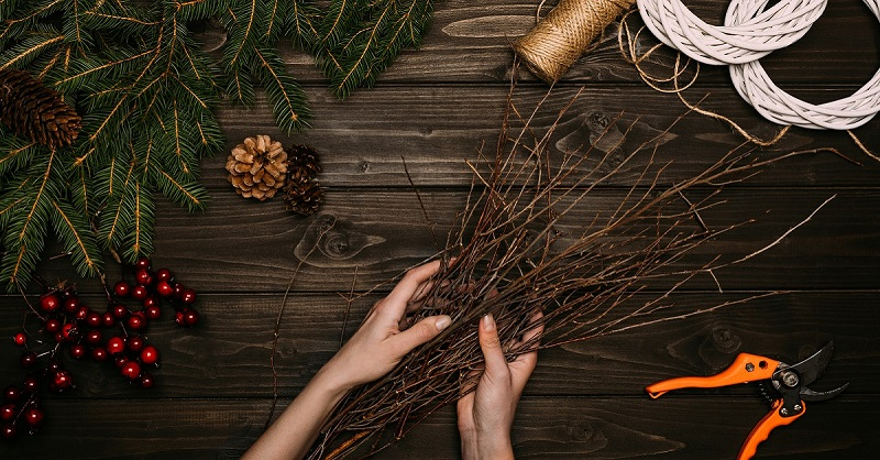 Стильное новогоднее деревце своими руками