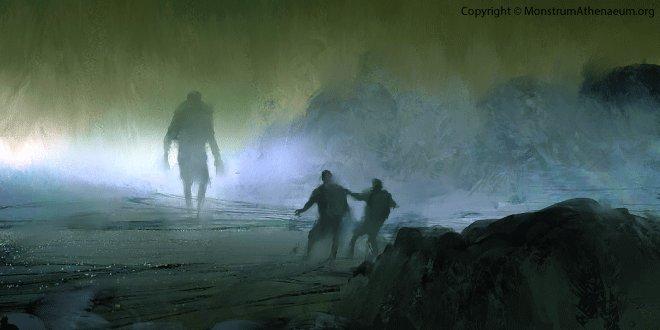 Длиннорукий серый монстр с горы Бен-Макдуй в Шотландии