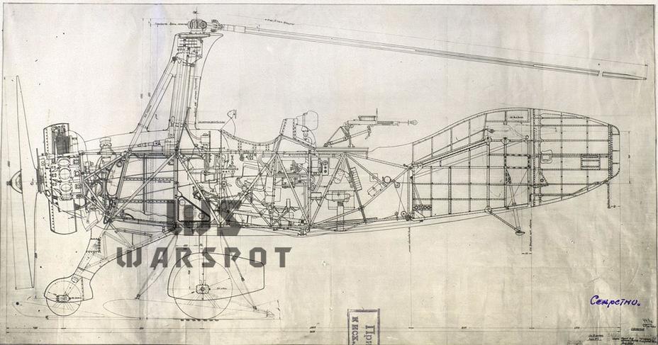 Продольный разрез А-7-3а. Такой машина была на момент постройки, к концу лета 1941 года она прошла первую модернизацию - Летающие глаза артиллерии | Warspot.ru