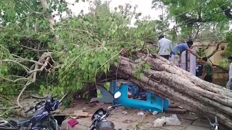 Песчаная буря в Индии: есть жертвы