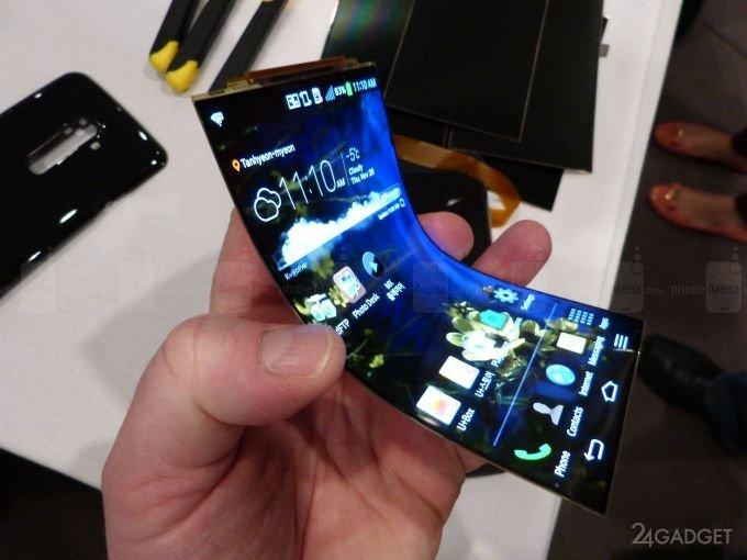 В Sony создают смартфон, скручивающийся в рулон смартфоны,технологии