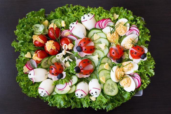 """alt=""""Украшение салатов на праздничный стол"""""""