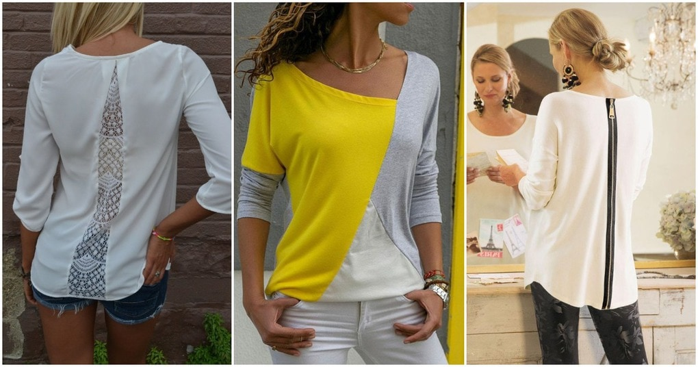 Моднючие и простые способы увеличить любую футболку на 1-2 размера