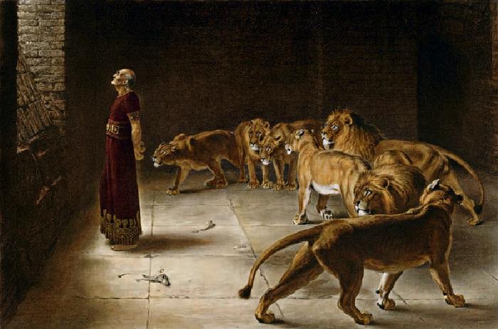 «Даниил во рву львином». Автор: Брайтон Ривьер.