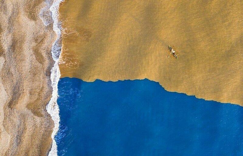 Столкновение стихий дрон-фотография, дроны, итоги фотоконкурса, красиво, необычно, фото, фотографии, фотоконкурс