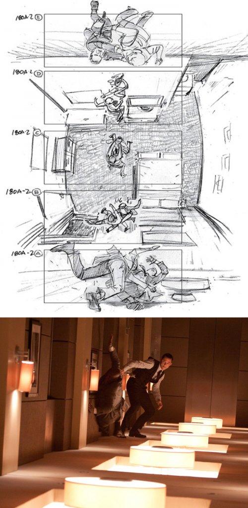 Эскизы, сделанные создателями известных фильмов перед тем, как приступить к съёмкам