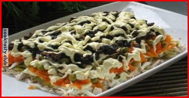 Слоенный салат с черносливом &171;По-царски&187;