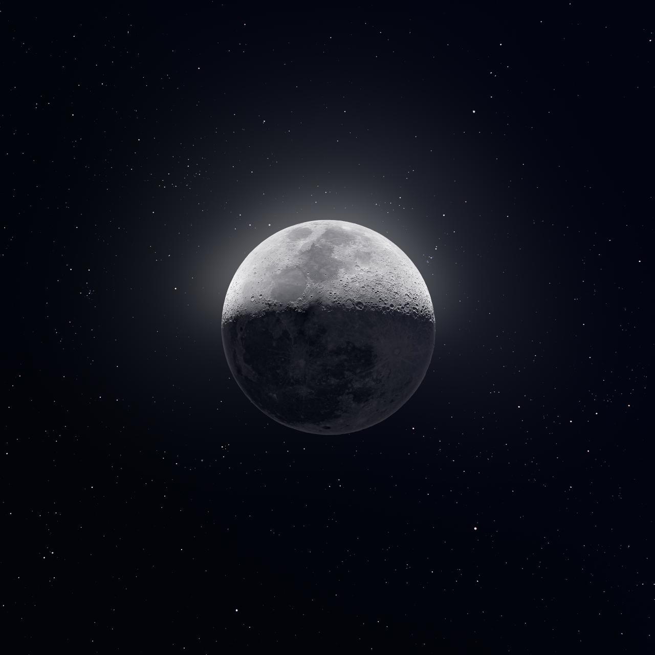 Изображение Луны, собранное из 50 тыс. снимков