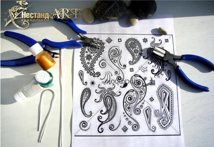 Создаем серьги из проволоки, эпоксидной смолы и перламутровых красителей: мастер-класс