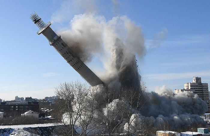 За взрывом знаменитой телебашни в Екатеринбурге наблюдали тысячи людей