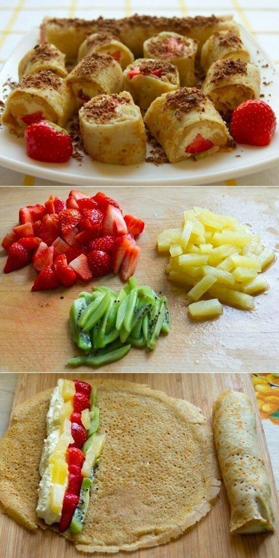 И конечно же сладости! готовка, еда, идеи, кухня, рулеты