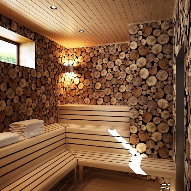 Дом в Москве, 600 кв.м: Спа, бани, сауны в . Автор – Валерия Лазарева - архитектор, дизайнер интерьера