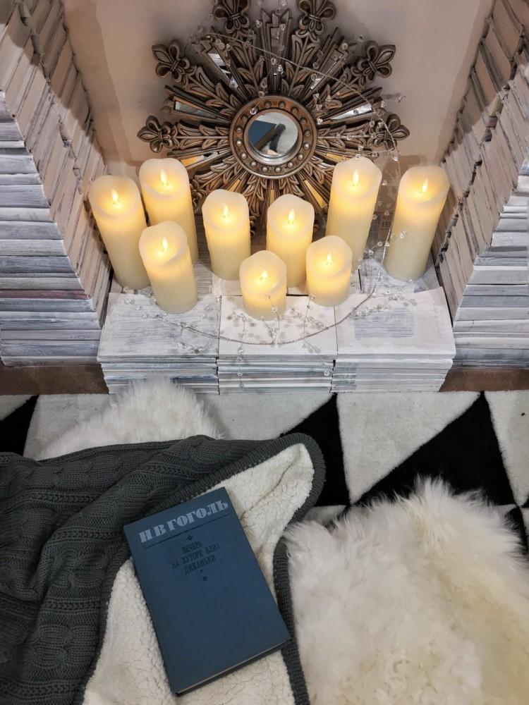 Фотозона в квартире: праздничный декоративный камин своими руками декор,для дома и дачи,мастер-класс