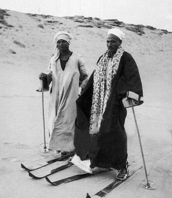 Когда очень хочется снега. Египет, 1939 история, ретро, фото