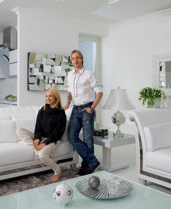 Яна Рудковская и Евгений Плющенко. / Фото: www.elle.ru