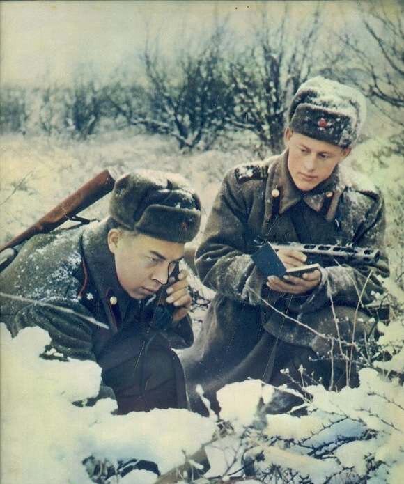 Связисты на учениях. Фото В. Гжельского, 1954 год СССР, фото, это интересно