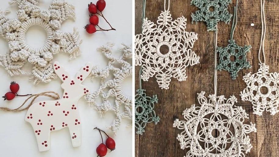 Снежинки, которые не тают: великолепные украшения в технике макраме