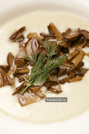 Суп-пюре из перловки с грибами
