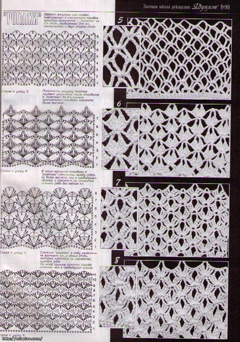 КРУЖЕВНИЦА - сайт для тех кто любит ажурное вязание