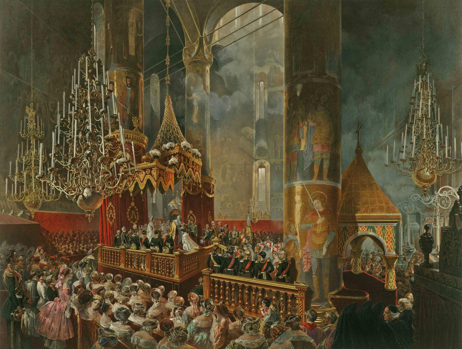 Михай Али Зичи Коронация Эрмитажа Александра II