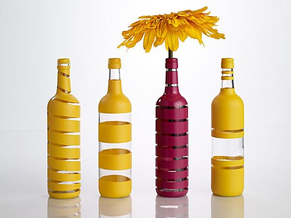 Как покрасить бутылку: 5 техник окраски