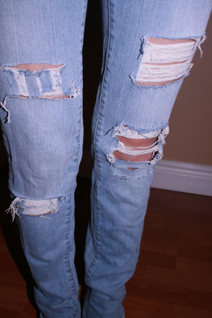 рваные джинсы своими руками мастер класс фото мог стать