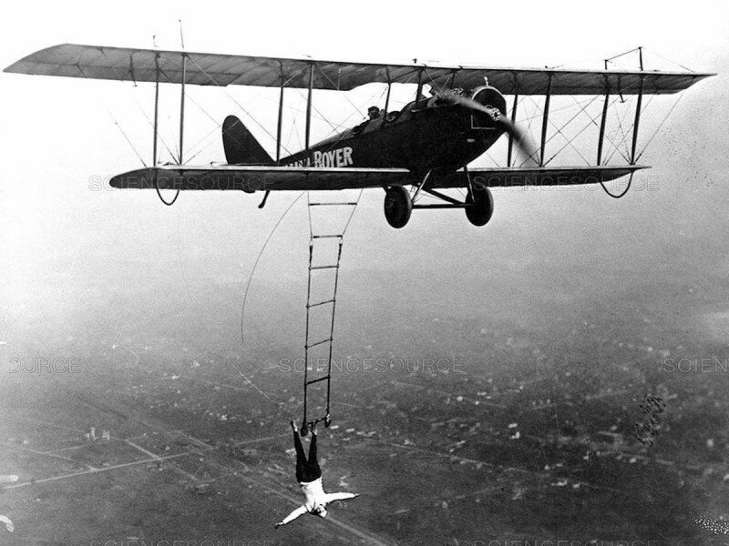 Воздушная акробатка Лилиан Боер, США, 1922 год. история, ретро, фото