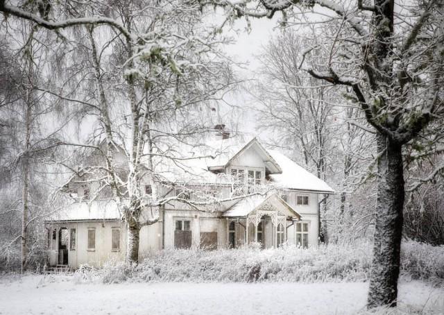 Заброшенные дома за северным полярным кругом