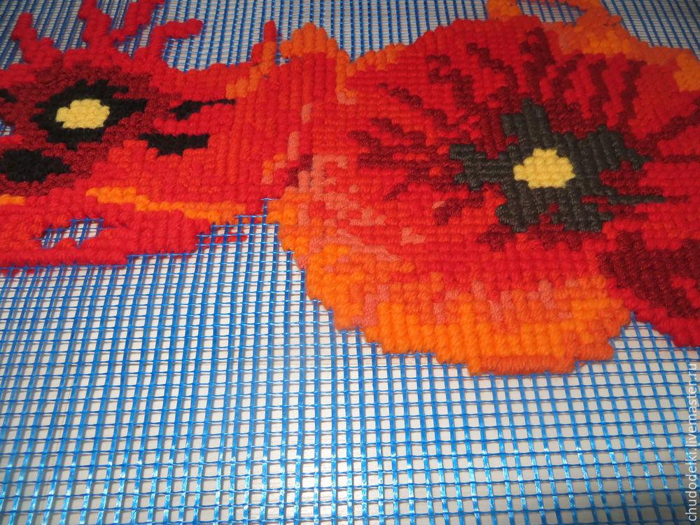Как уменьшить затраты на материалы в вышивке — строительная сетка вместо канвы
