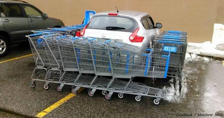 17 раза, когда кто-то припарковался как бык — и тут же был за это наказан!