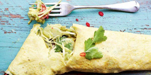 Блюда из капусты: Омлет с капустной начинкой