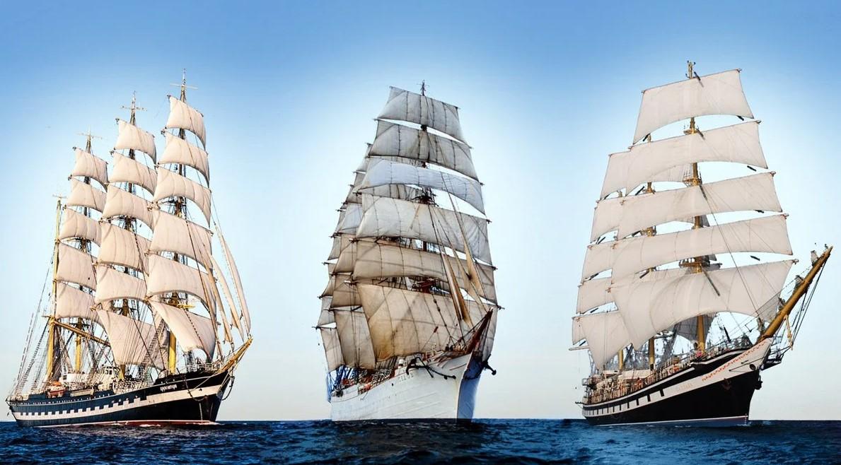 Российские парусники провели гонку в Южной Атлантике