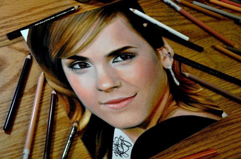 Портреты цветными карандашами, которые не отличить от фотографий супер