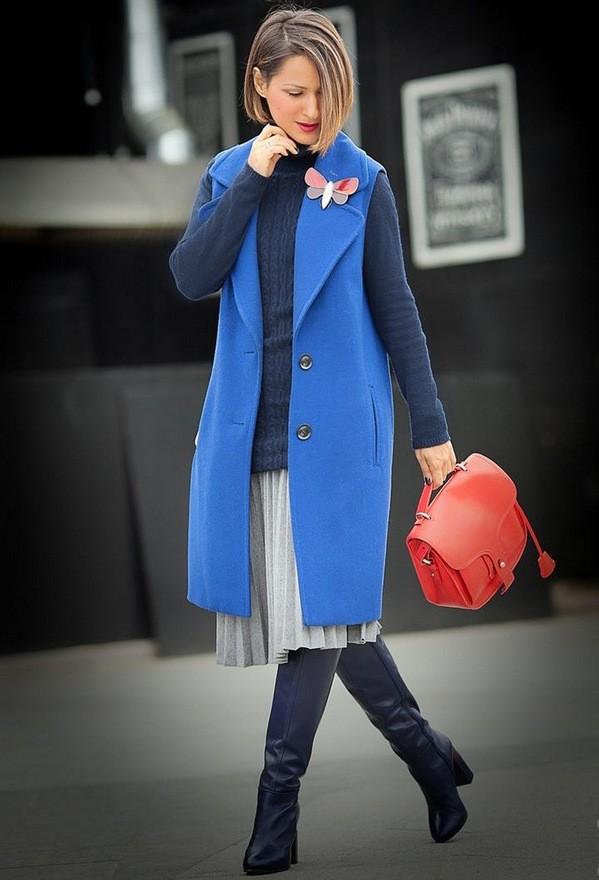 с чем носить юбку зимой идеи
