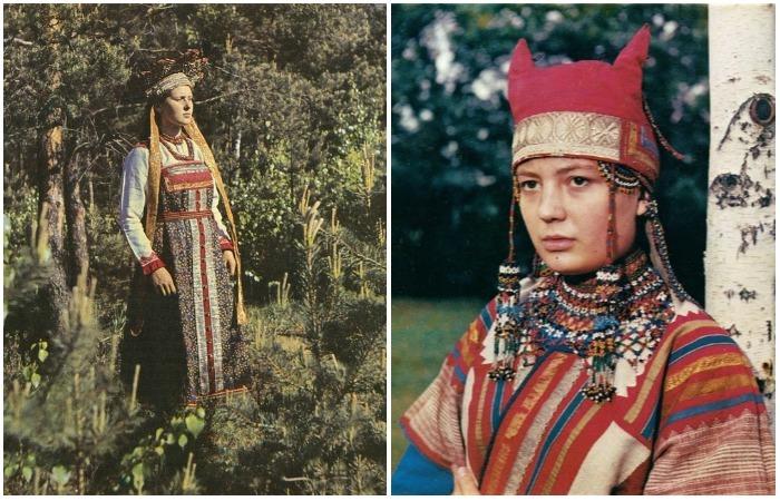 Красота сквозь века: Фотографии русских красавиц в роскошных национальных костюмах