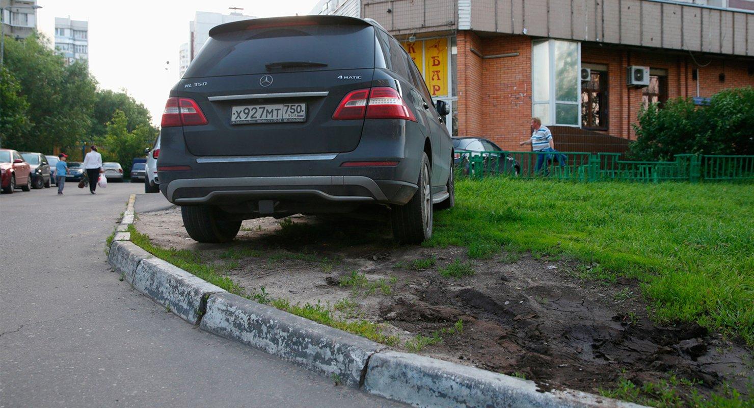 Водителей начали чаще штрафовать за парковку авто на газоне Автомобили