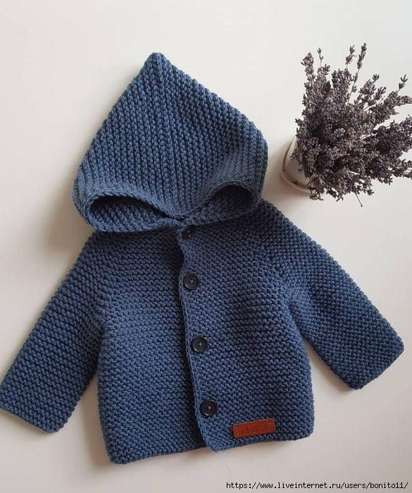 Как связать уютный кардиган спицами для малыша вязание,мода,одежда