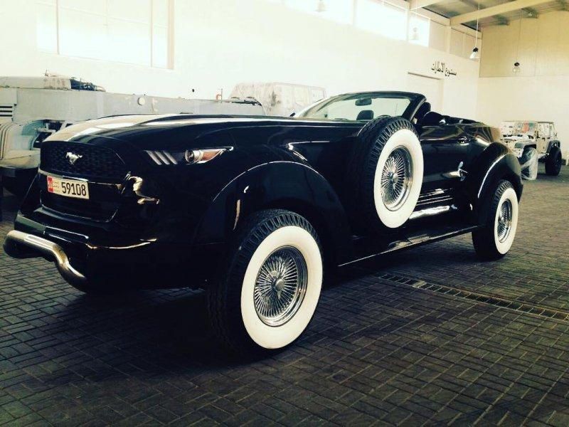 Ford Mustang на шасси Dodge Ram для шейха dodge, ford, mustang, автодизайн, автотюнинг, кастомайзинг, самоделка, тюнинг