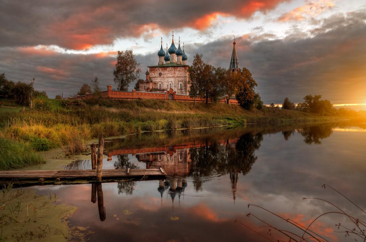 Село Дунилово в Ивановской губернии - одно из любимых мест пейзажных фотографов