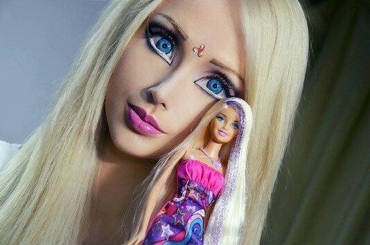"""Как выглядит знаменитая """"Одесская Барби"""" без макияжа Барби,девушки,мода и красота"""