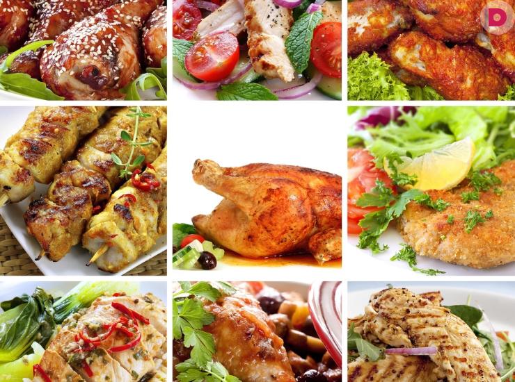 Обед из 4 блюд: курица