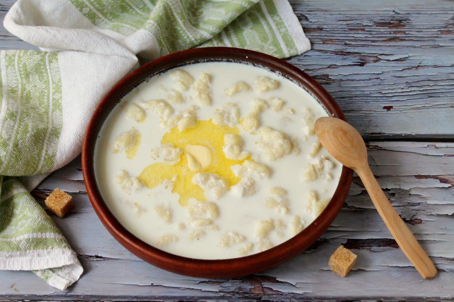 Молочный суп с галушками супы