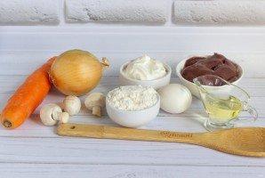 Печеночное суфле с шампиньонами - фото шаг 1