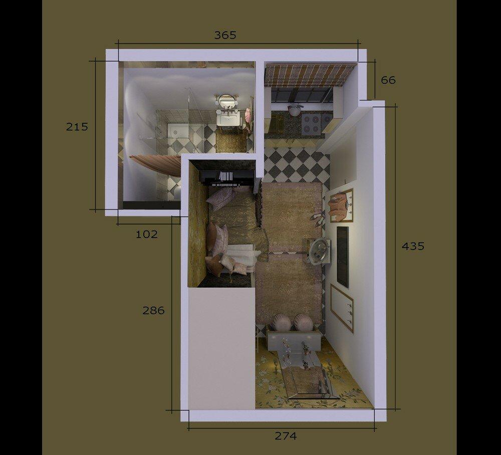 Гарсоньерка с окном на север идеи для дома,интерьер и дизайн